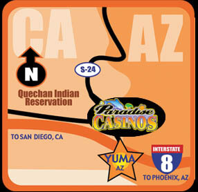 Paradise Casino Map