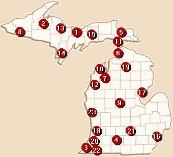 Michigan Casinos Map