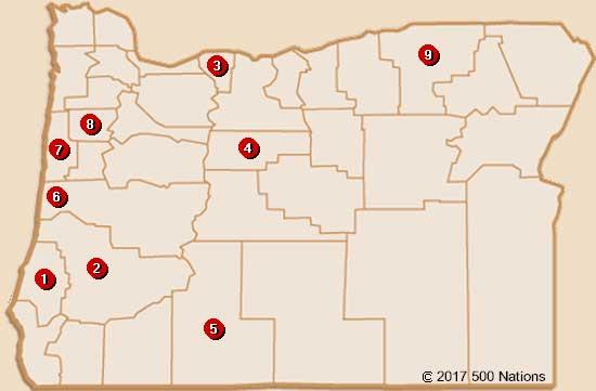 Oregon Casino Map